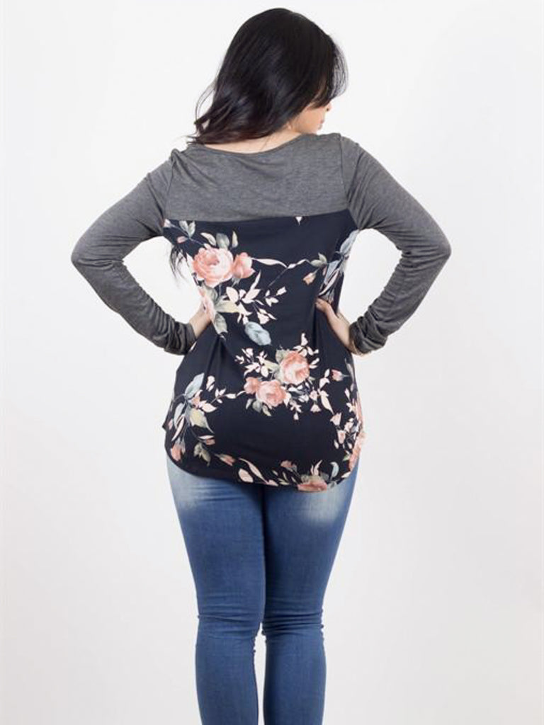 Floral Back Crossfront Top - Free Shipping Over $50 | AllisonAvery.com - 3