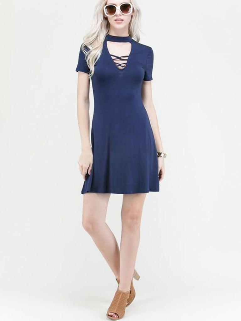 Allison Avery - Strappy Choker Tunic - Free Shipping Over $50