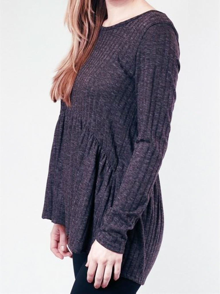 Allison Avery - Ruffled Long Sleeve Top - Free Shipping Over $50