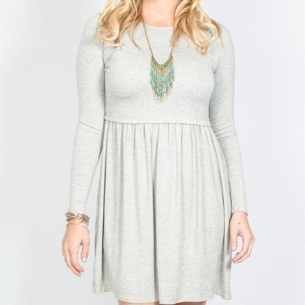 Allison Avery - Waist Detail Swing Dress - Free Shipping Over $50