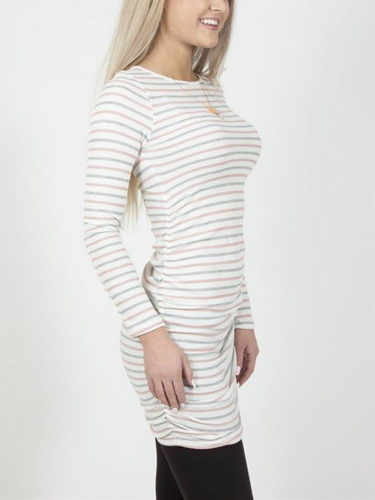 Allison Avery - Side Cinched Striped Tunics - Free Shipping Over $50