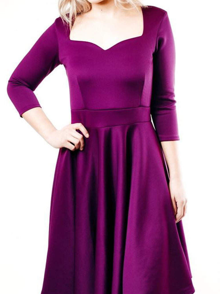 Allison Avery - Structured Sweetheart Dress - Free Shipping Over $50