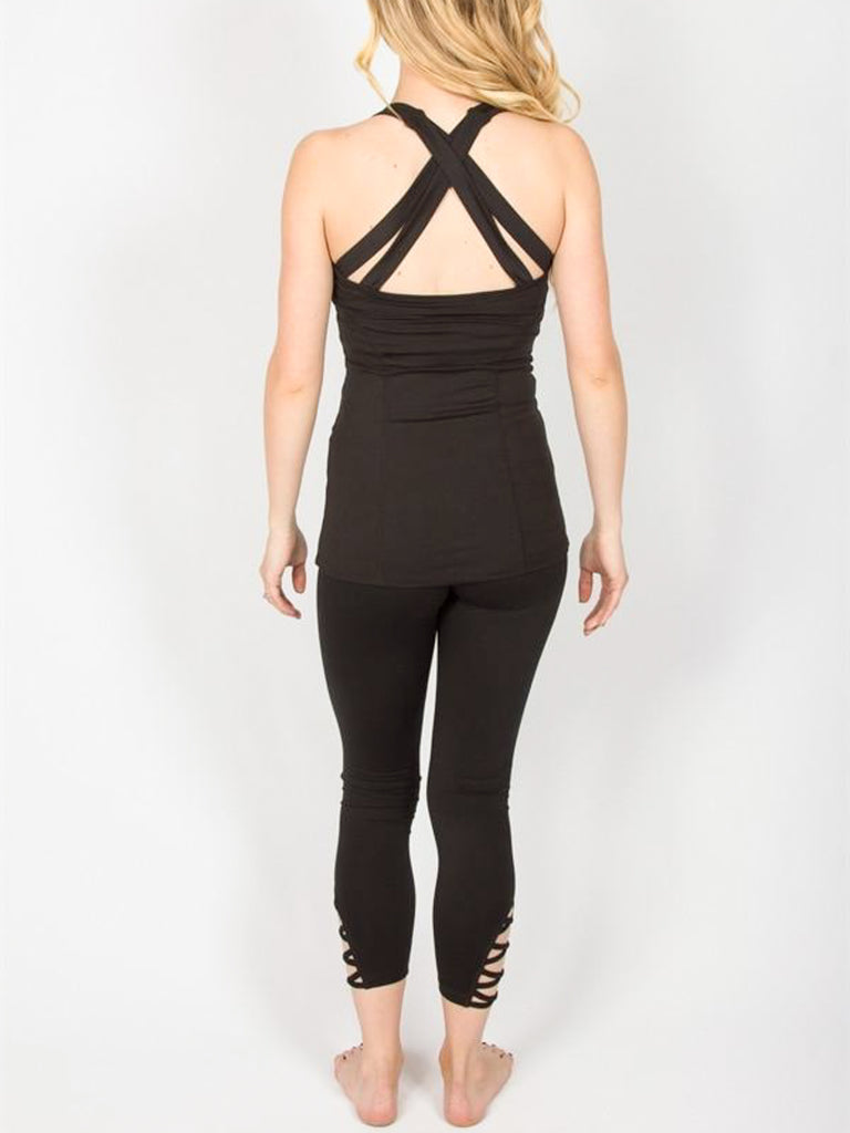 Allison Avery - Crossback Workout Tanks W Pocket - Free Shipping Over $50