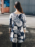 3/4 Sleeve Floral Tunic