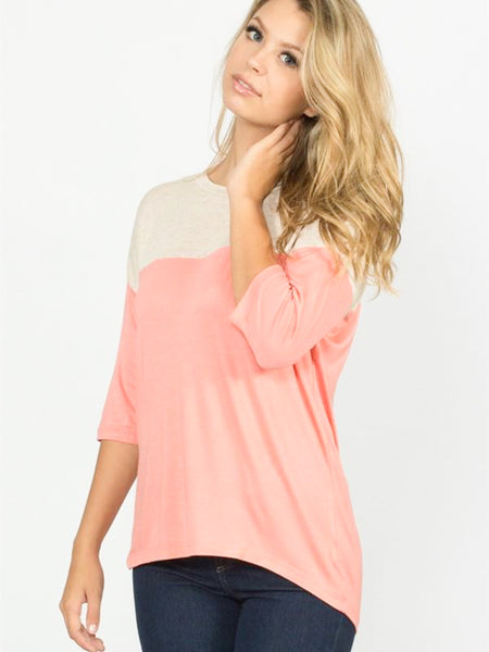 Allison Avery - Color Block 1 2 Sleeve Top - Free Shipping Over $50