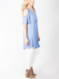 Allison Avery - Cold Shoulder Tunic - Free Shipping Over $50