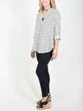 Allison Avery - Grid Pattern Blouse - Free Shipping Over $50