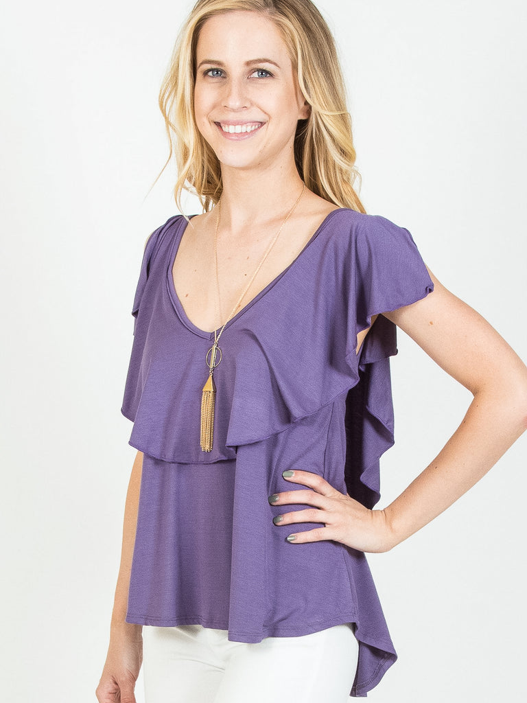 Allison Avery - Modal Ruffle Top - Free Shipping Over $50