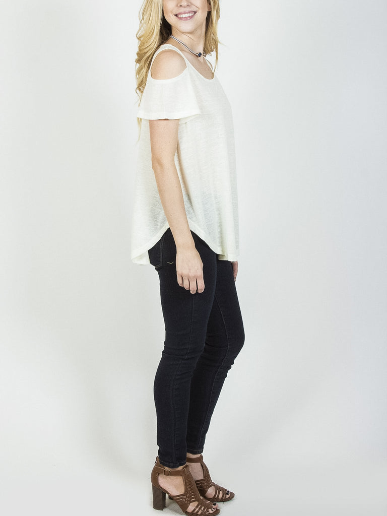 Allison Avery - Cold Shoulder Tee - Free Shipping Over $50