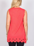 Allison Avery - Long Scallop Hem Tank 1 - Free Shipping Over $50