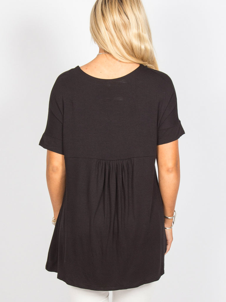 Allison Avery - Pleated Back Tunic 1 - Free Shipping Over $50