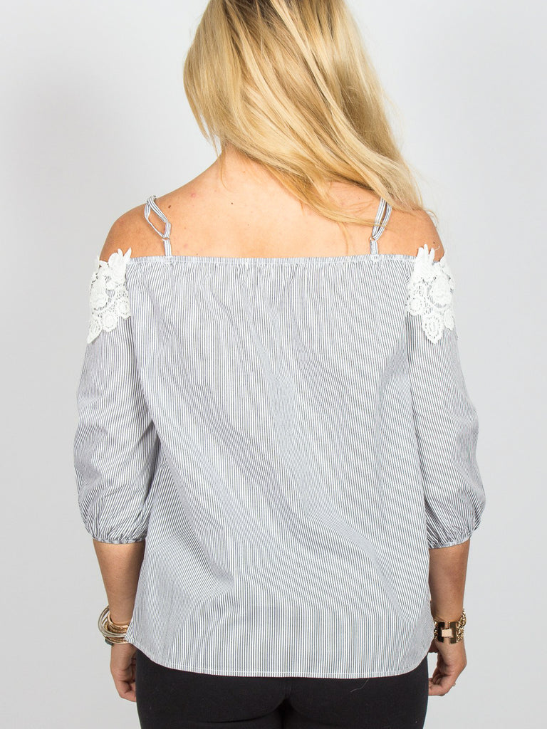 Allison Avery - Gorgeous Lace Off Shoulder Top - Free Shipping Over $50
