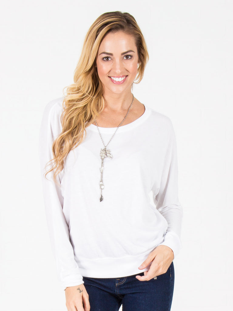 Allison Avery - Flowy Draped Off Shoulder Top - Free Shipping Over $50