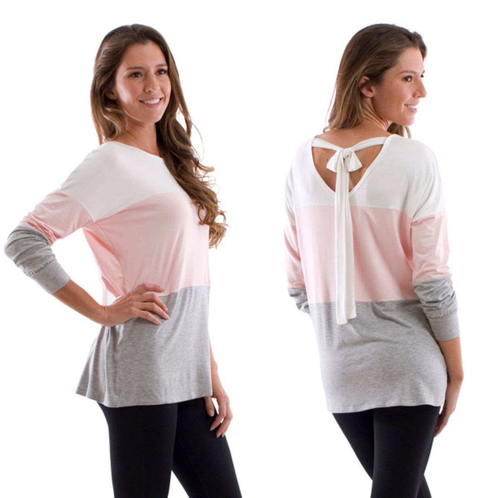 Tie Back Color Block Top
