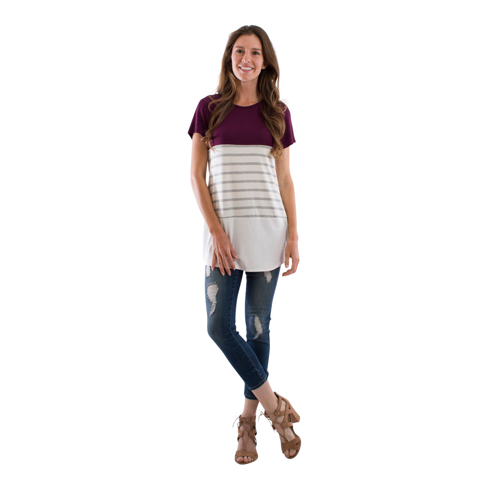 Color Block Striped Tunic