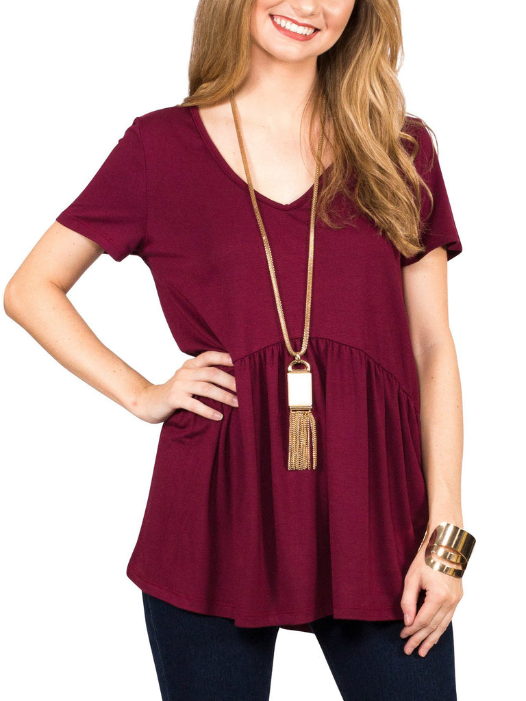 Ruffled Babydoll Tee - Free Shipping Over $50 | AllisonAvery.com - 1