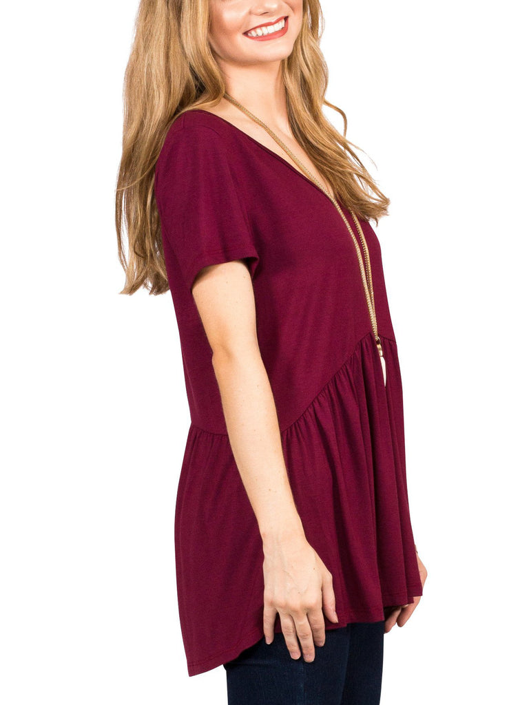 Ruffled Babydoll Tee - Free Shipping Over $50 | AllisonAvery.com - 3