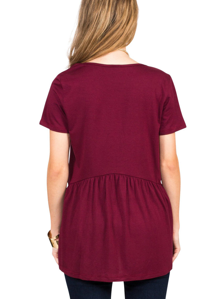 Ruffled Babydoll Tee - Free Shipping Over $50 | AllisonAvery.com - 5