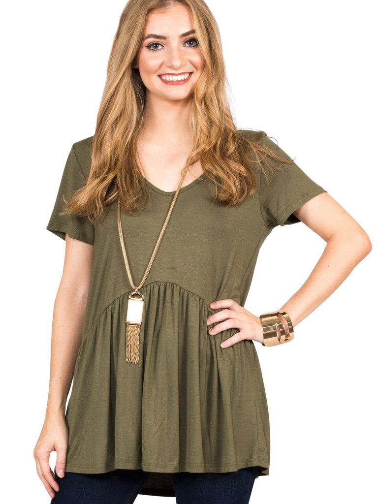 Ruffled Babydoll Tee - Free Shipping Over $50 | AllisonAvery.com - 18
