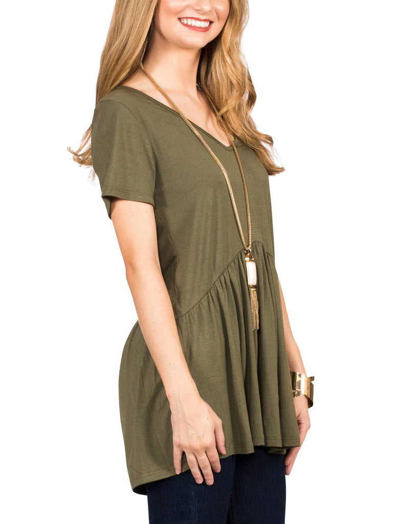 Ruffled Babydoll Tee - Free Shipping Over $50 | AllisonAvery.com - 19