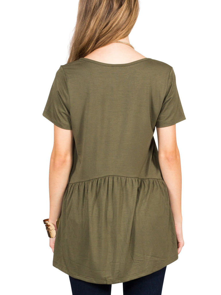 Ruffled Babydoll Tee - Free Shipping Over $50 | AllisonAvery.com - 20