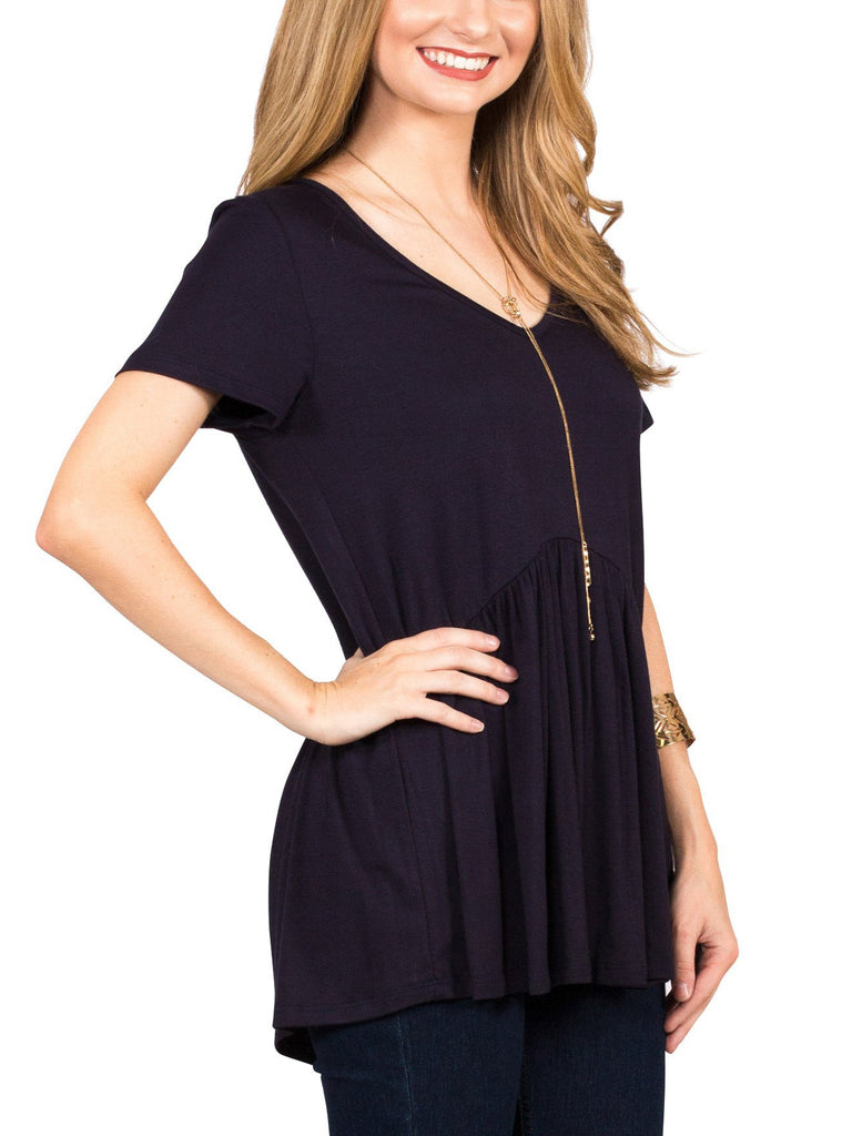 Ruffled Babydoll Tee - Free Shipping Over $50 | AllisonAvery.com - 16