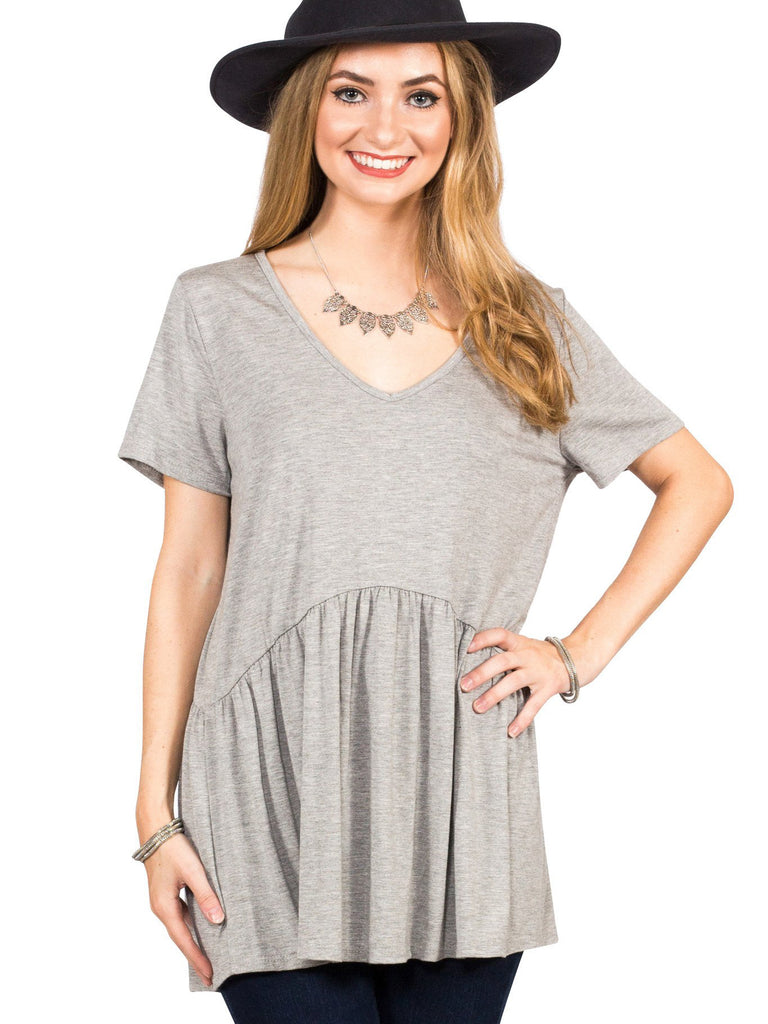 Ruffled Babydoll Tee - Free Shipping Over $50 | AllisonAvery.com - 10