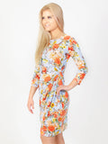 Allison Avery - Floral Knot Midi Dress - Free Shipping Over $50