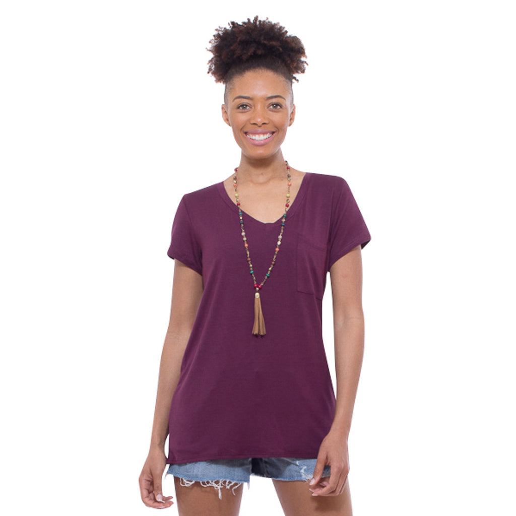 Favorite V-Neck Pocket Top