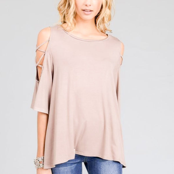Allison Avery - Cross Sleeve Tunic - Free Shipping Over $50
