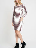 Allison Avery - Stripe Contrast Pocket Midi - Free Shipping Over $50