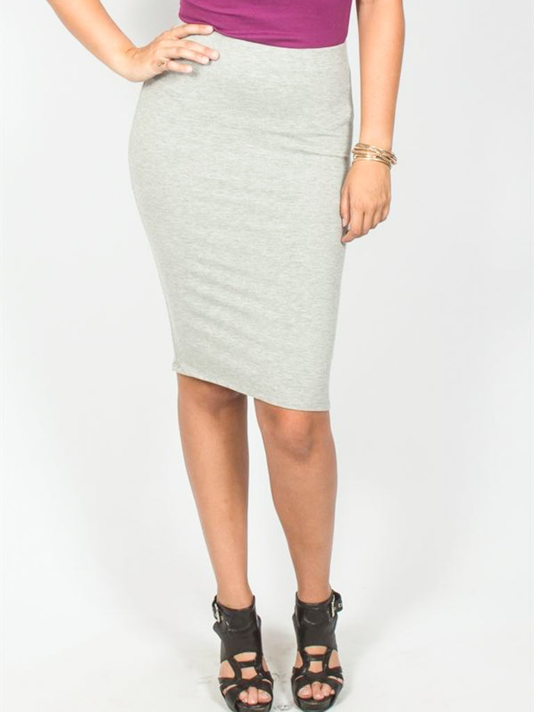 Allison Avery - Solid Pencil Skirt - Free Shipping Over $50