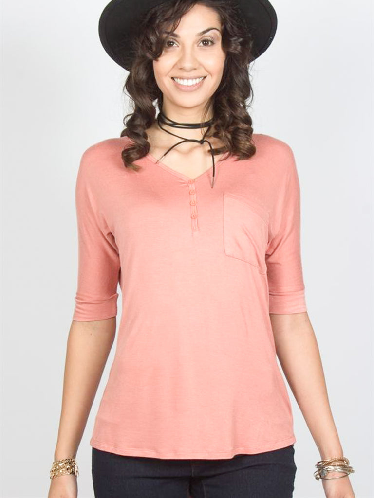 Allison Avery - Lightweight Button Down Dolman - Free Shipping Over $50