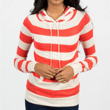 Allison Avery - Soft Striped Hoodie - Free Shipping Over $50