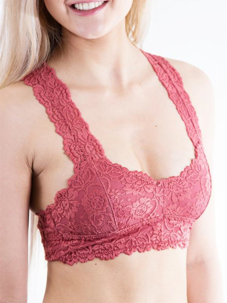 Allison Avery - Lined Lace Bralette - Free Shipping Over $50