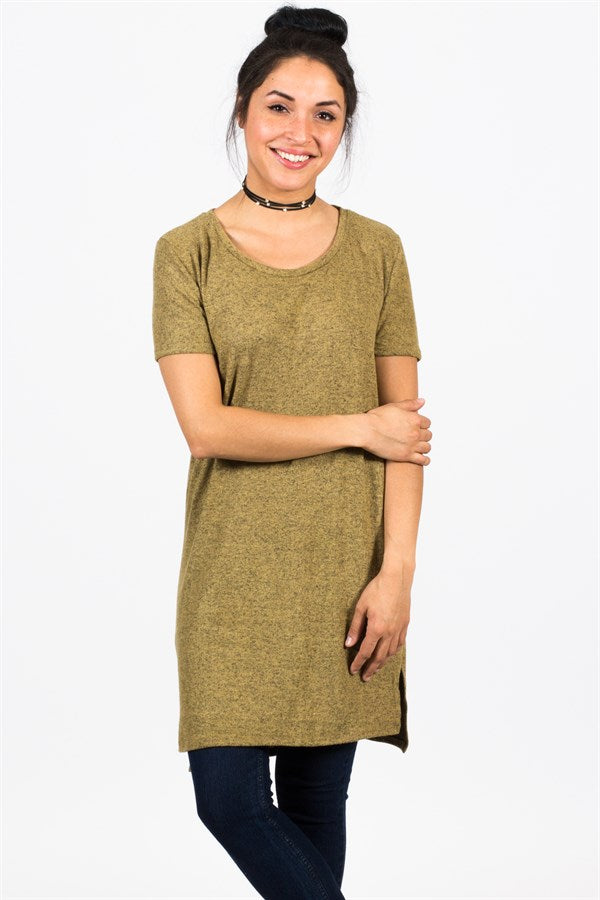 Favorite Heathered Hacci Tunic
