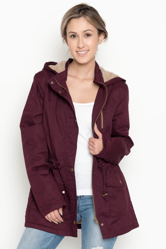 Allison Avery - Fur Hood Utility Jacket - Free Shipping Over $50