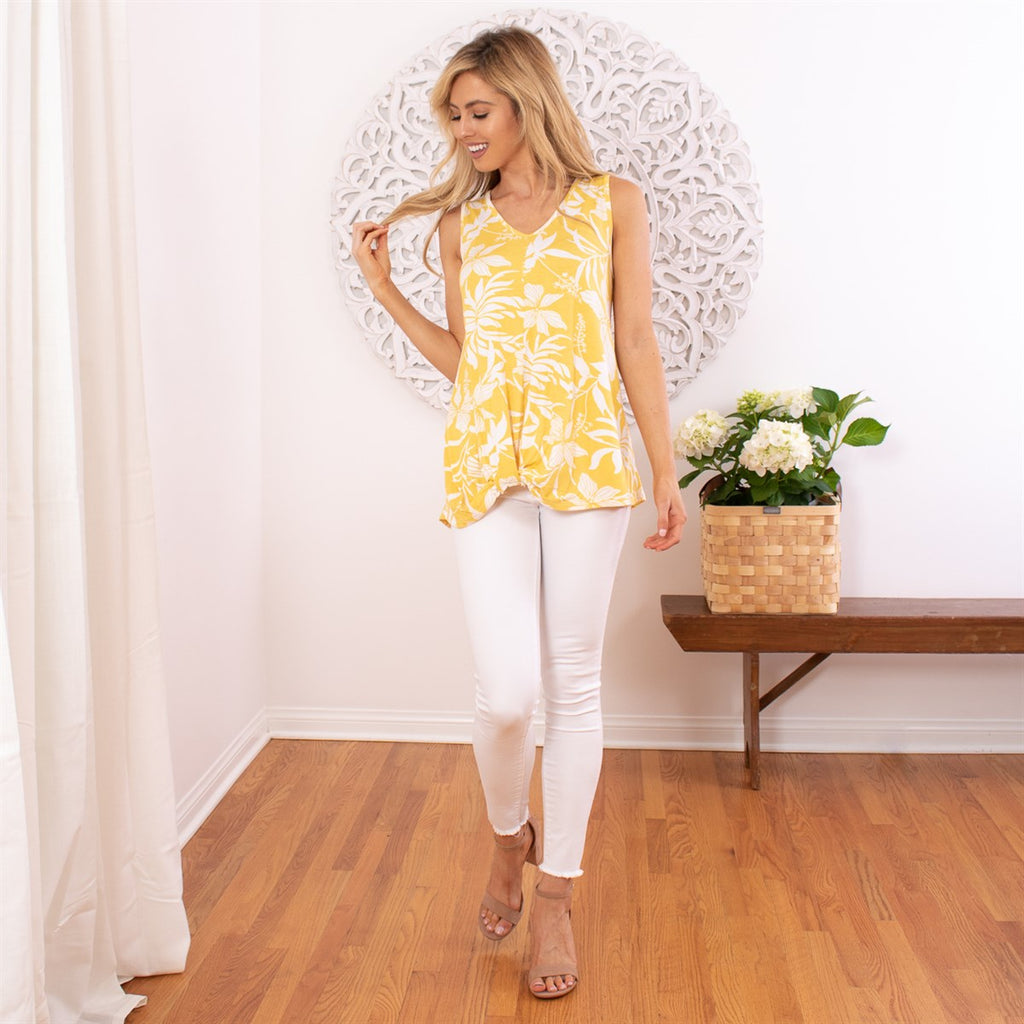 Front Twist Floral Top