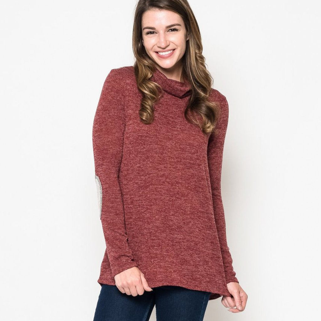 Allison Avery - Button Back Turtleneck Sweater - Free Shipping Over $50