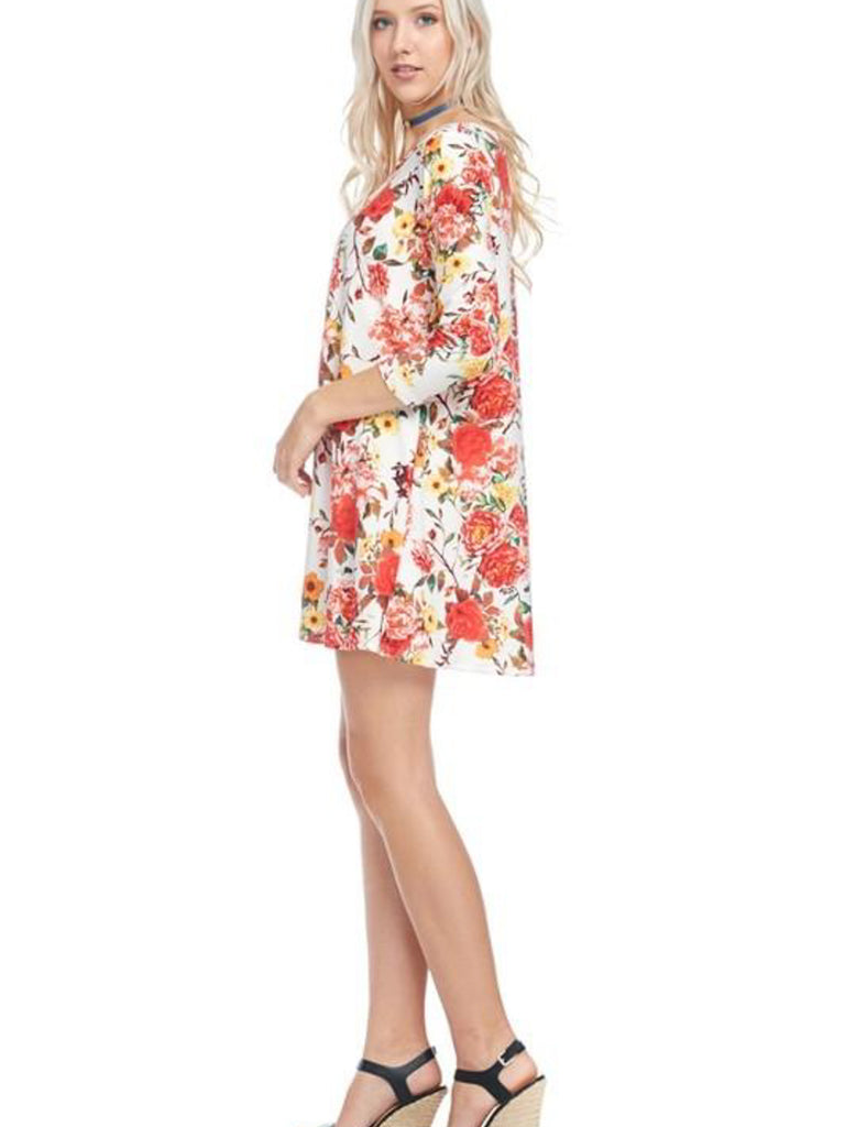 Allison Avery - Must Have Floral Crossfront Tunic - Free Shipping Over $50