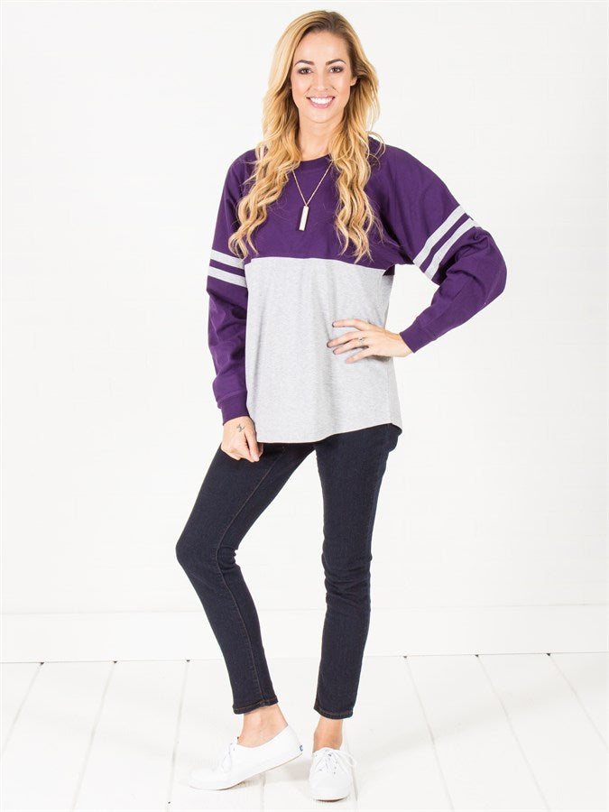 Varsity Drop Shoulder Top