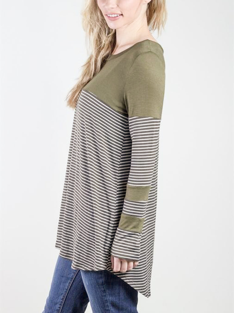 Allison Avery - Striped Block Tunic - Free Shipping Over $50