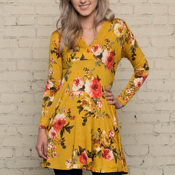 Allison Avery - Fall Floral Tunic - Free Shipping Over $50