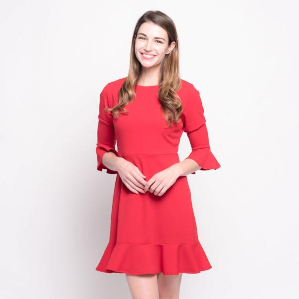 Allison Avery - Structured Ruffle Tunic - Free Shipping Over $50