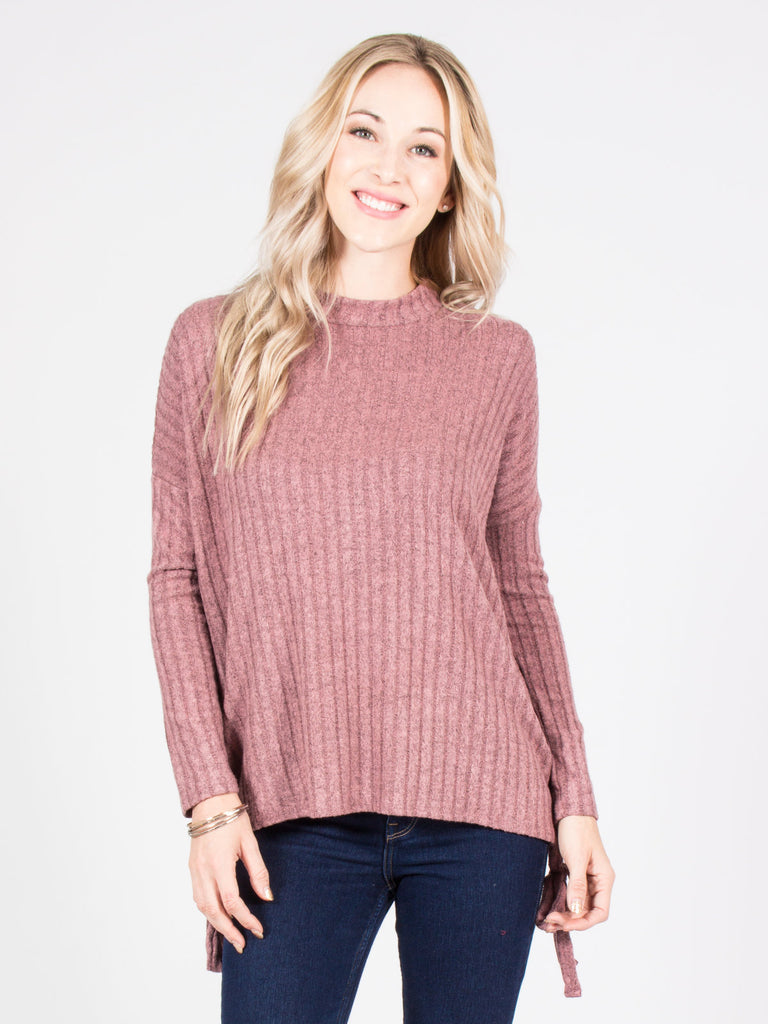 Allison Avery - Side Tie Sweater Top - Free Shipping Over $50