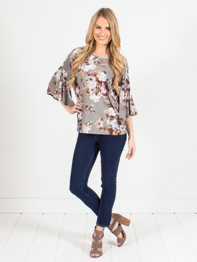 Allison Avery - Floral Dolman Top - Free Shipping Over $50