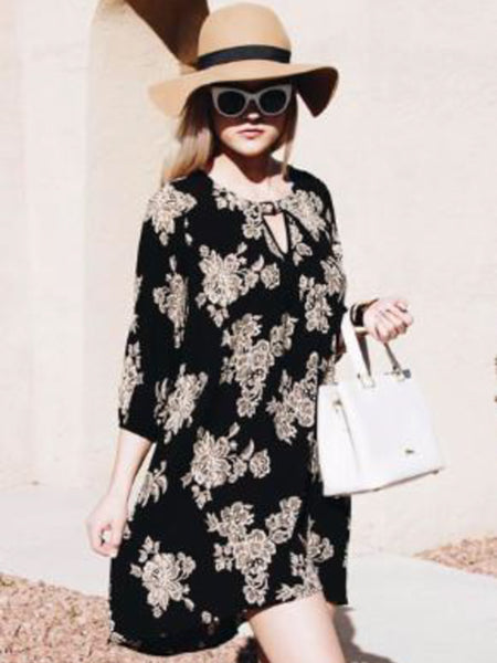 Allison Avery - Floral Hi Lo Tunic - Free Shipping Over $50