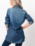 Allison Avery - Fall Denim Pocket Tunic - Free Shipping Over $50