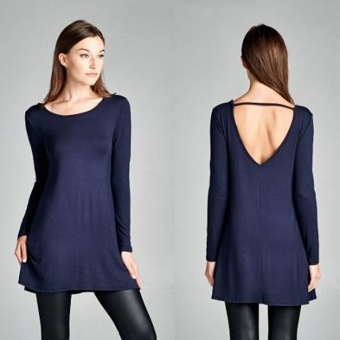 Allison Avery - Gorgeous Open Back Tunic - Free Shipping Over $50