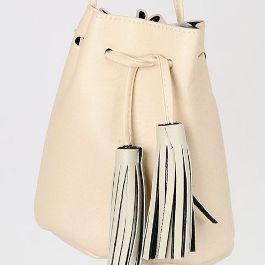 Allison Avery - Tassel Drawstring Crossbody Purse - Free Shipping Over $50